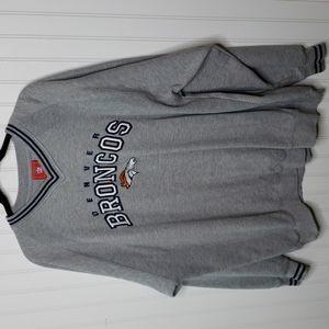 NFL Denver Broncos V Neck Sweatshirt Size XL